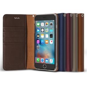 iPhone 6S플러스/6플러스용 천연소가죽 다이어리 케이스